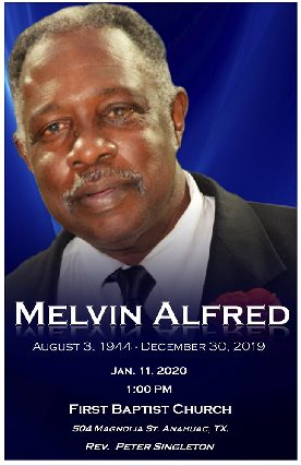 Melvin Alfred 1944 – 2019