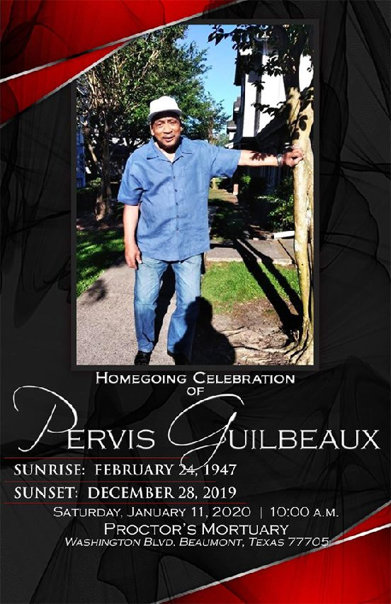 Pervis Guilbeaux 1947 – 2019